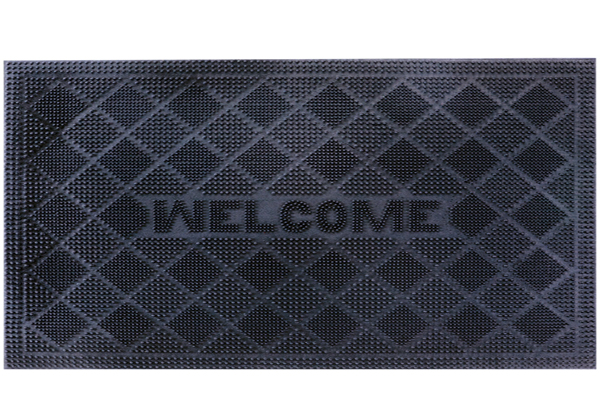RUBBER PIN MATS DIAMOND WELCOME