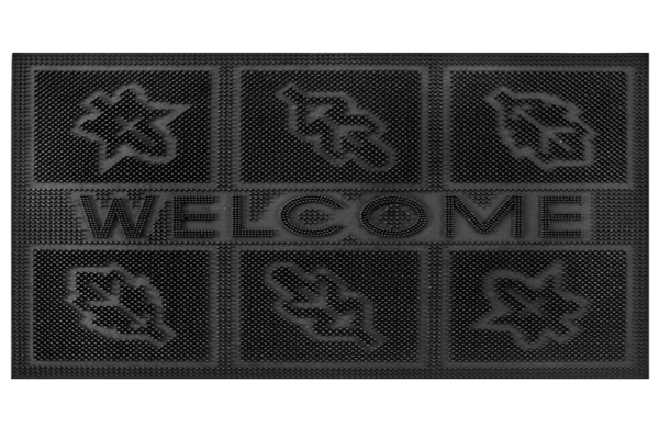 RUBBER PIN MATS 6 LEAF WELCOME