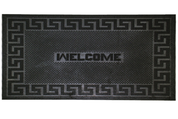 RUBBER PIN MATS  GREEKY WELCOME