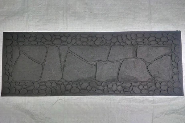 RUBBER STEP MAT STONE DESIGN